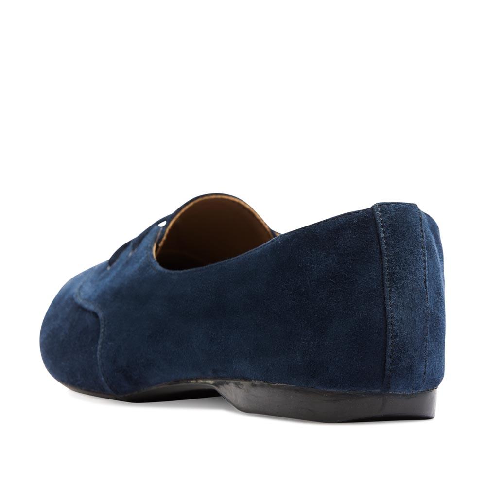 Женские ботинки CorsoComo (Корсо Комо) Замшевые полуботинки цвета ночного неба на шнуровке