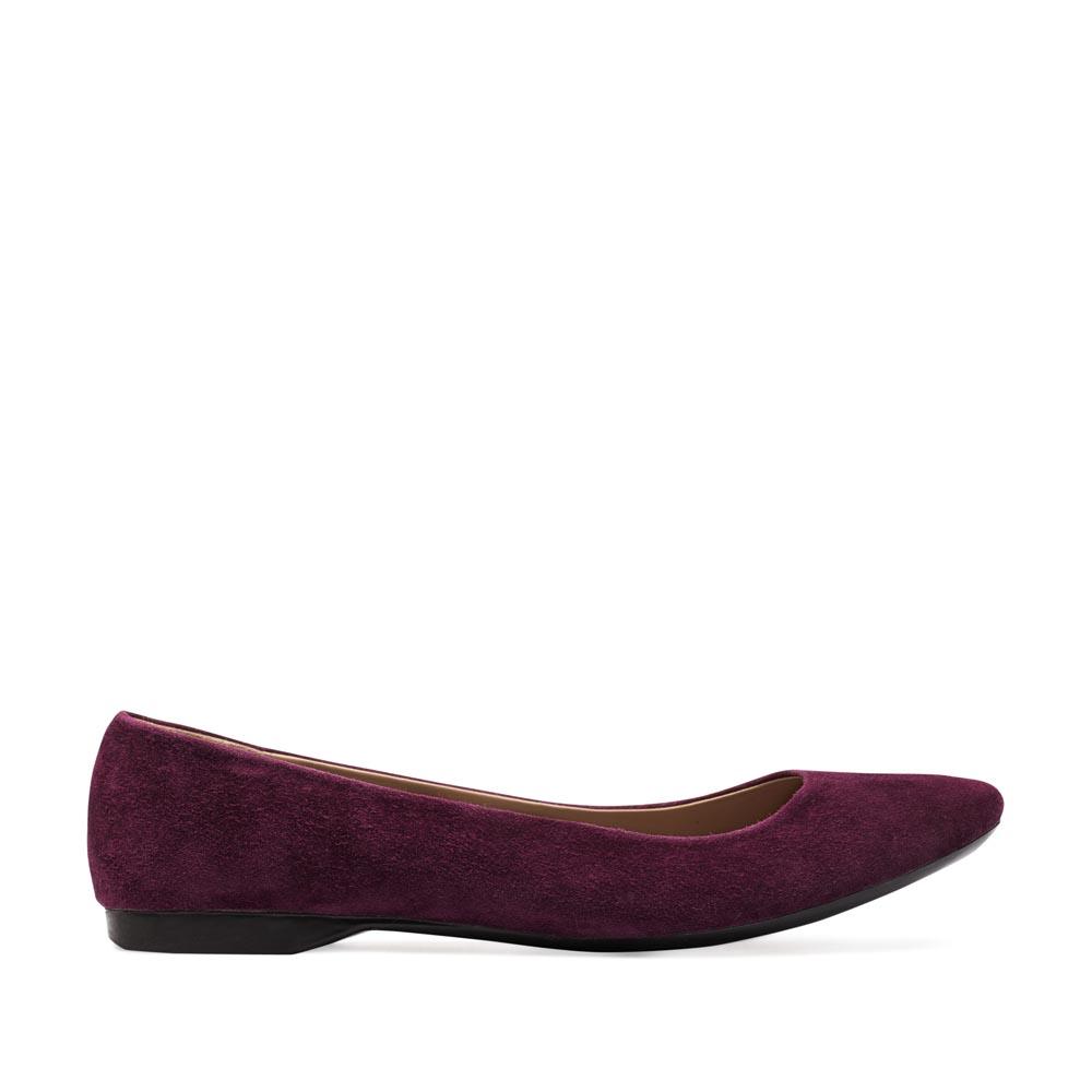 CORSOCOMO Классические балетки из замши пурпурного цвета 50-124-85605