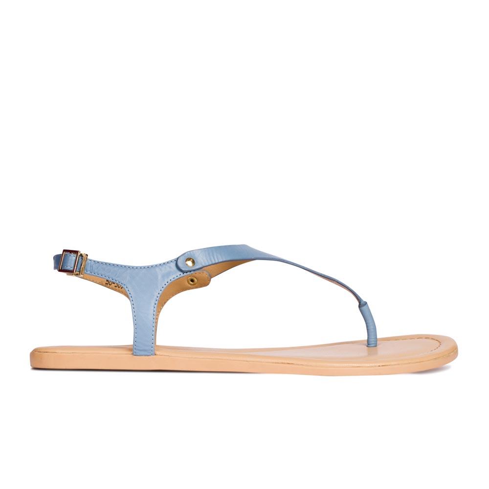CORSOCOMO Сандалии кожаные голубого цвета 50-309-41085