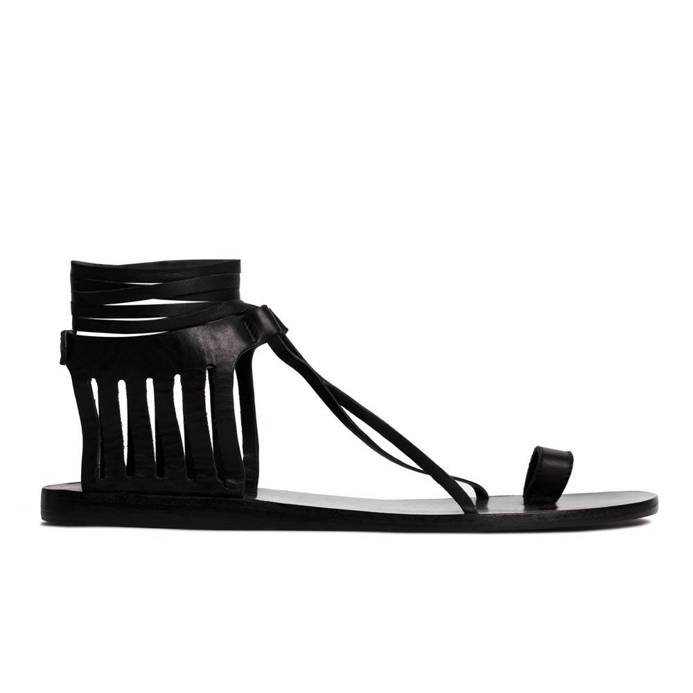 CORSOCOMO Кожаные сандалии черного цвета 50-309-46025