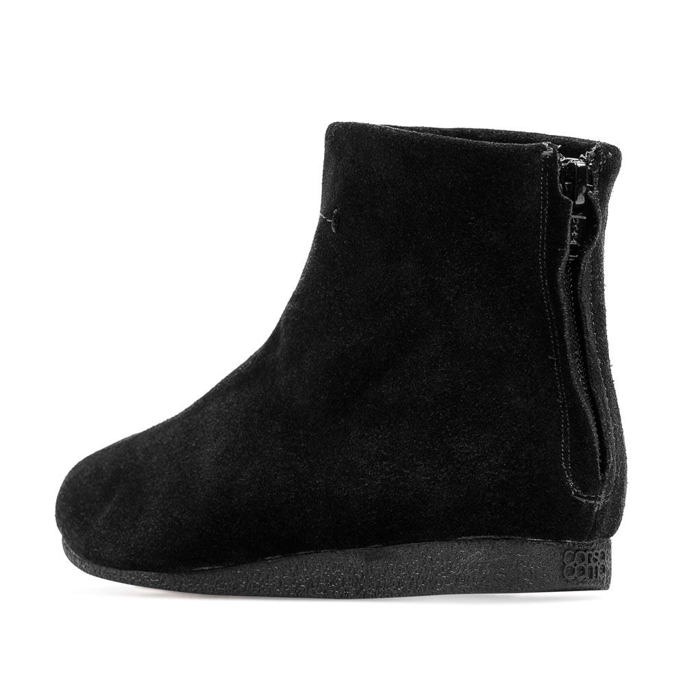 Сапоги на плоской подошве CorsoComo (Корсо Комо) 50-324-51521 т.п. Ботинки жен спилок чёрн.