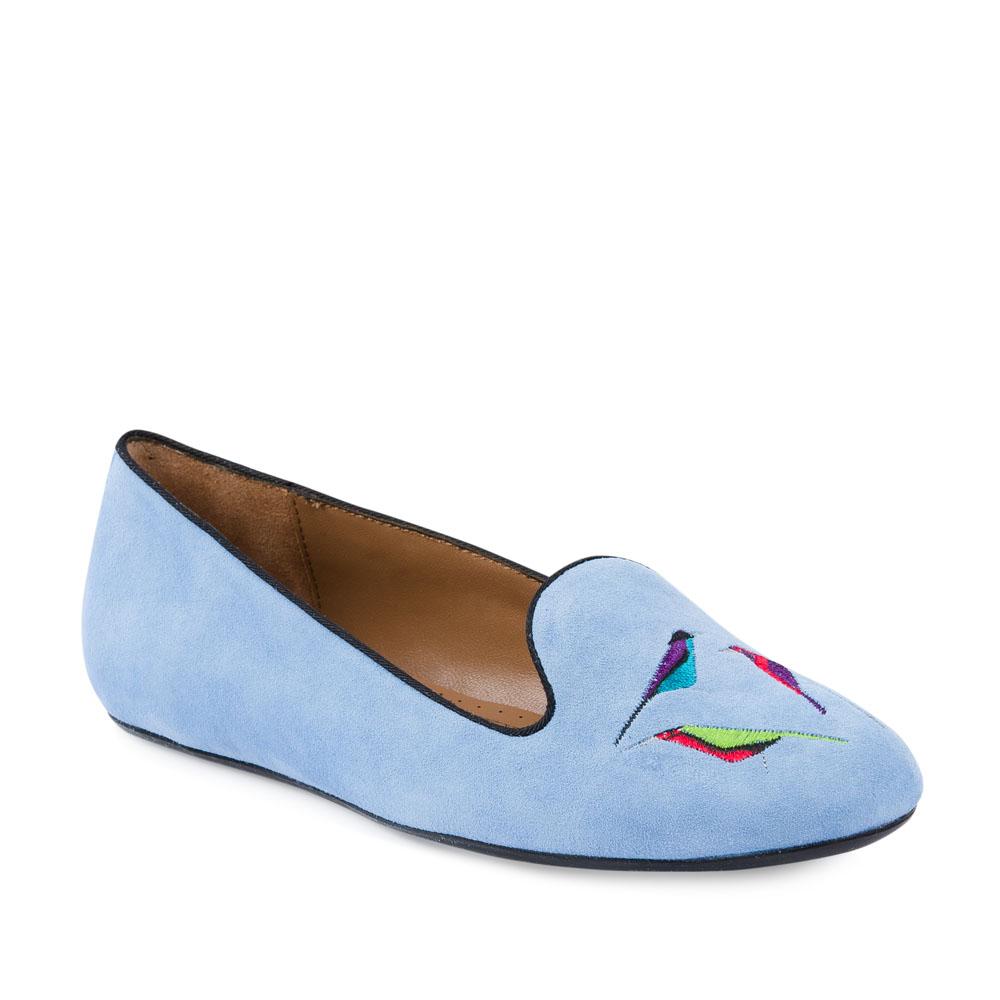 Туфли на плоской подошве CorsoComo (Корсо Комо) 50-405-6815 к.п. Туфли жен велюр голуб.