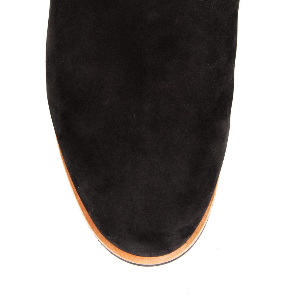 Сапоги на плоской подошве CorsoComo (Корсо Комо) Сапоги на протекторной подошве из замши черного цвета с мехом
