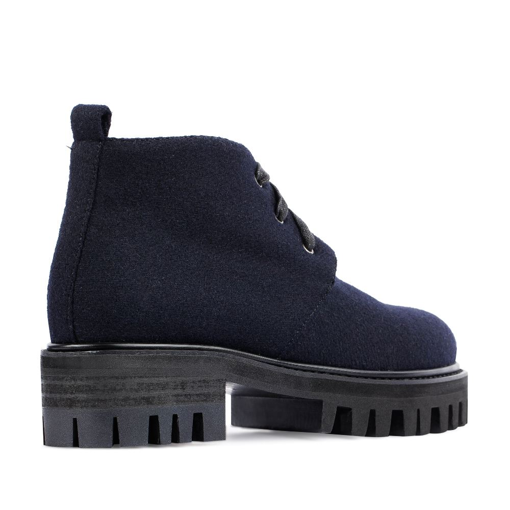 Женские ботинки CorsoComo (Корсо Комо) 52-02-H40-4 к.иск. Ботинки жен текстиль т.син.