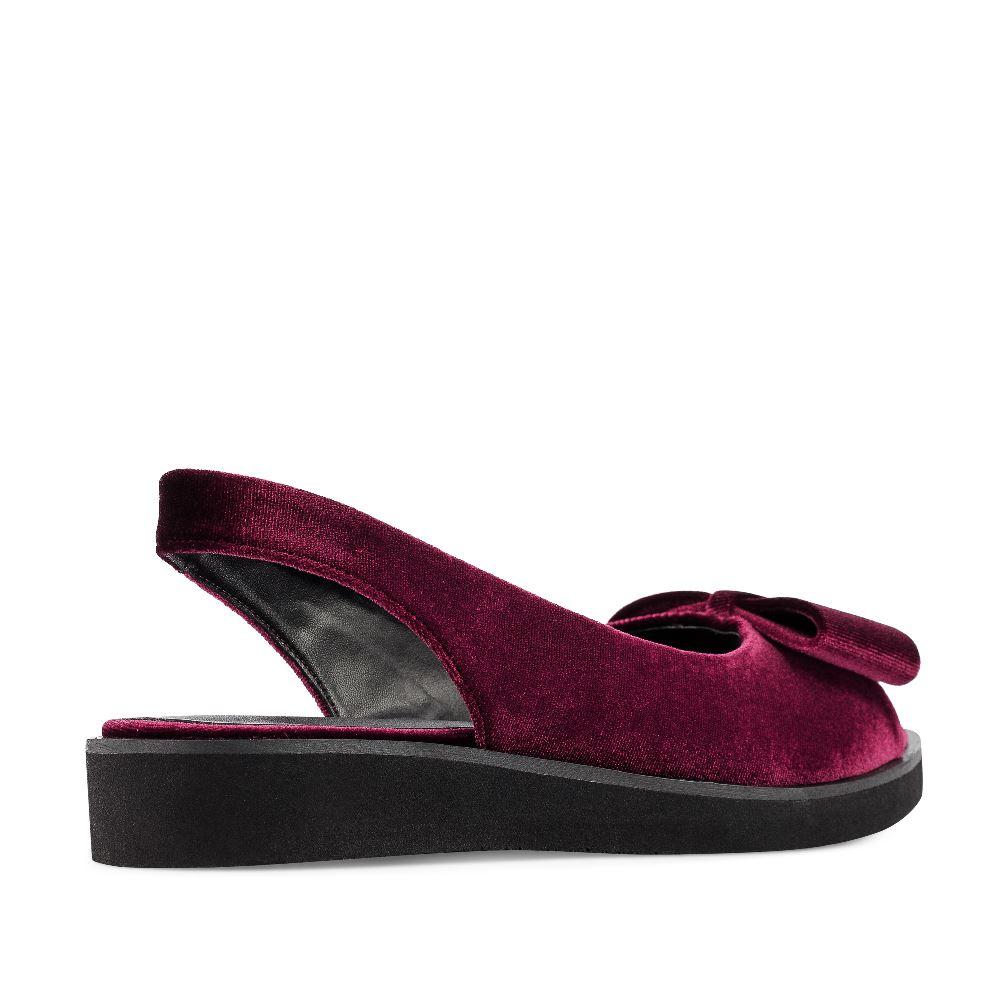 Женские сандалии CorsoComo (Корсо Комо) 52-263A-X1277-3 без п. Сандалеты жен текстиль бордо.