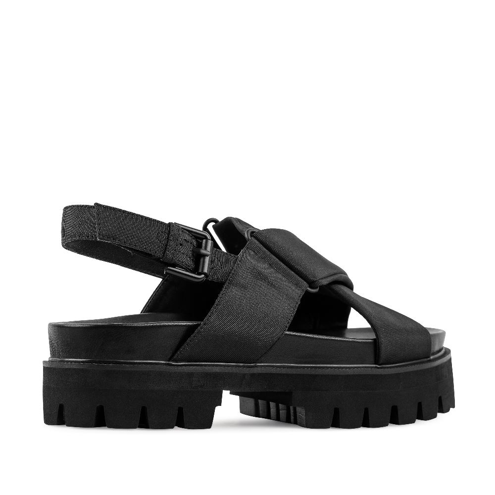 Женские сандалии CorsoComo (Корсо Комо) 52-98-C474-3 без п. Туфли жен текстиль черн.