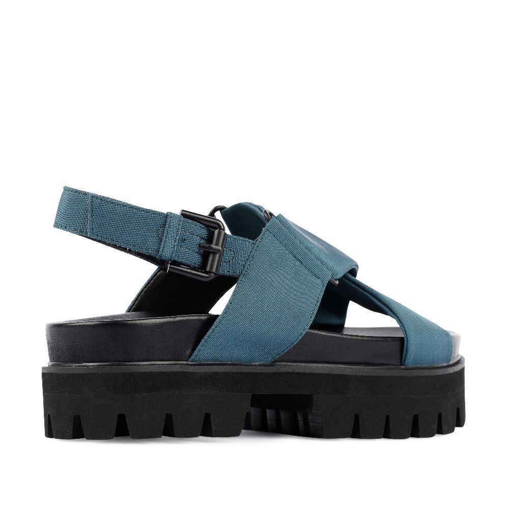 Женские сандалии CorsoComo (Корсо Комо) 52-98-C474-5 без п. Пантолеты жен текстиль сер.