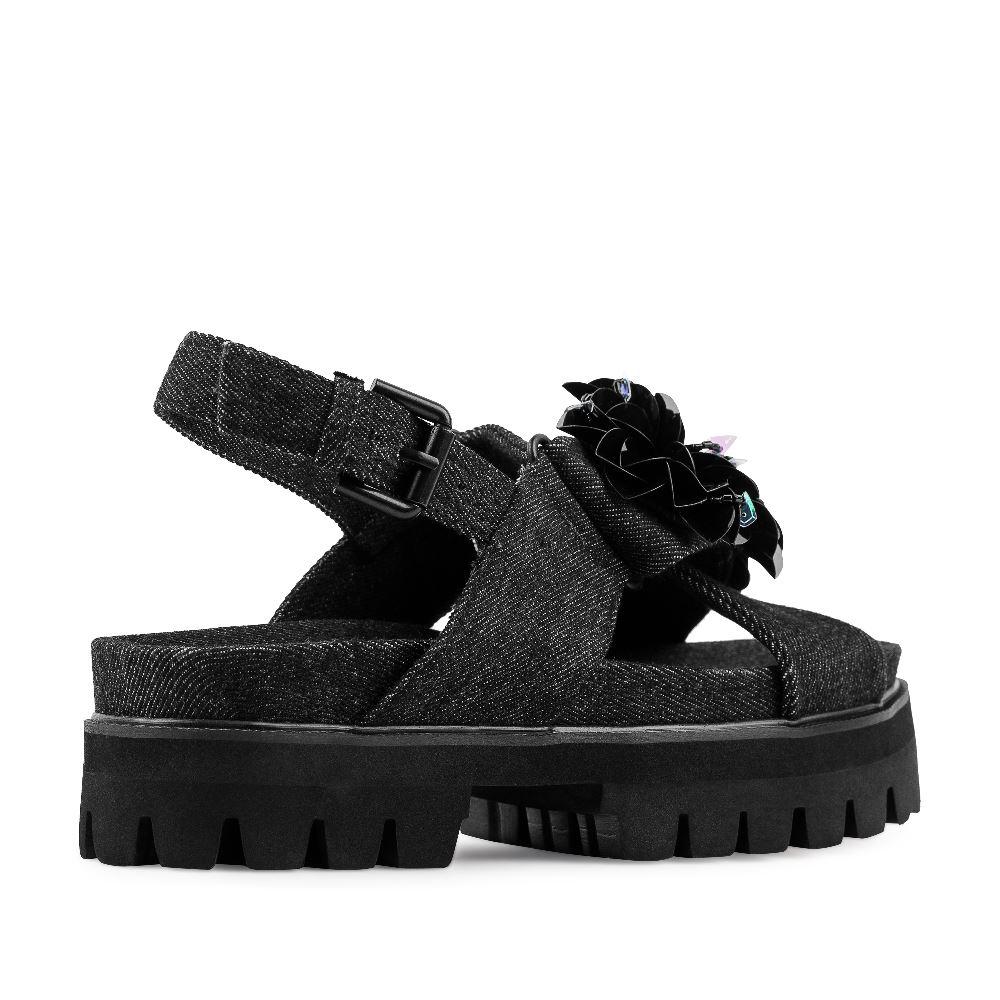 Женские сандалии CorsoComo (Корсо Комо) 52-98-C474A-1 без п. Сандалеты жен текстиль черн.