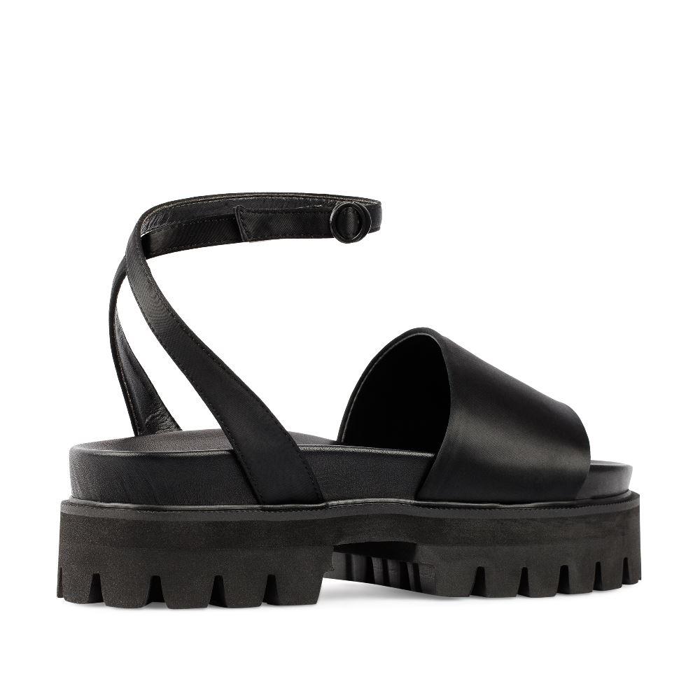 Женские сандалии CorsoComo (Корсо Комо) 52-98-S1039-1 без п. Пантолеты жен текстиль черн.