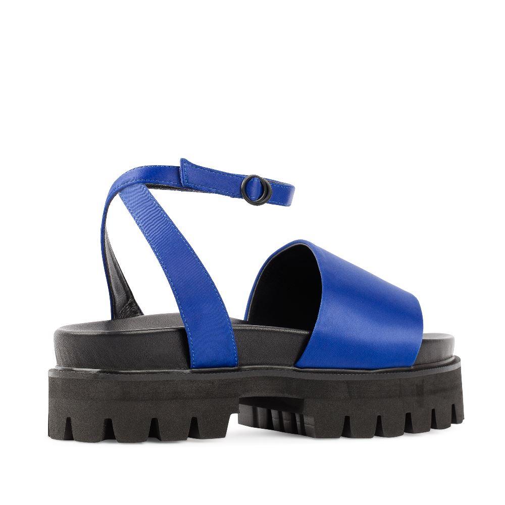 Женские сандалии CorsoComo (Корсо Комо) 52-98-S1039-2 без п. Пантолеты жен текстиль син.