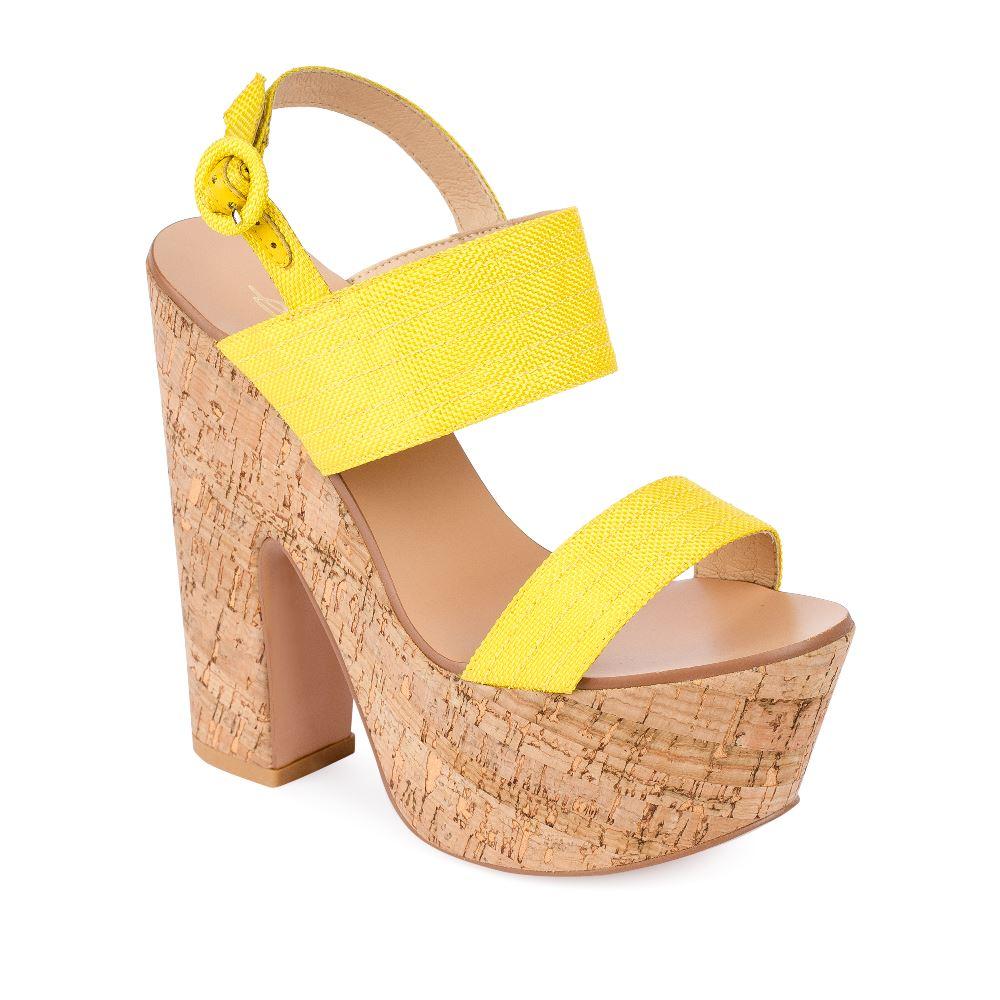 Женские босоножки CorsoComo (Корсо Комо) 52-H20-X511-2 т.п. Туфли жен текстиль желт.