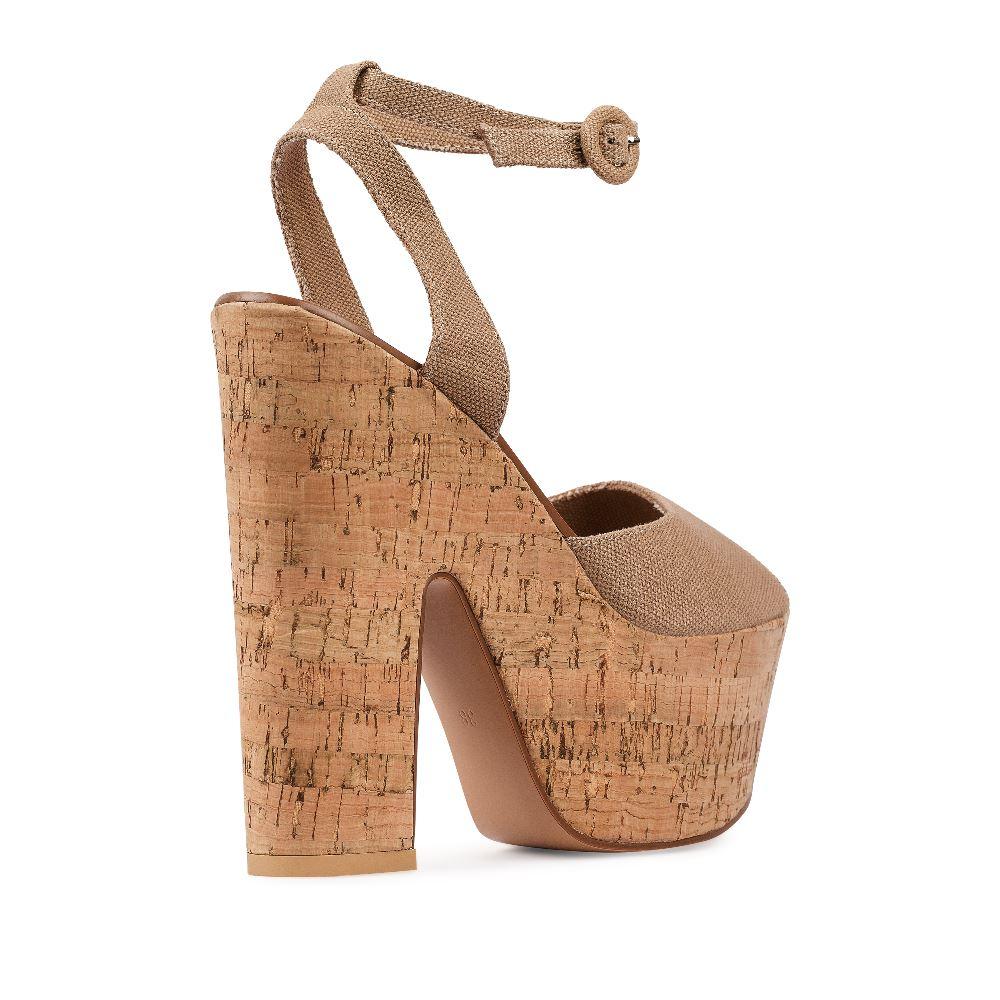 Женские босоножки CorsoComo (Корсо Комо) 52-H20-X512-11 без п. Туфли жен текстиль беж.
