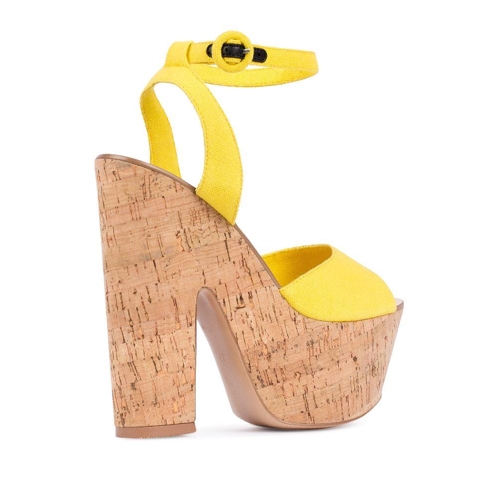 Женские босоножки CorsoComo (Корсо Комо) 52-H20-X512-4 т.п. Туфли жен текстиль желт.