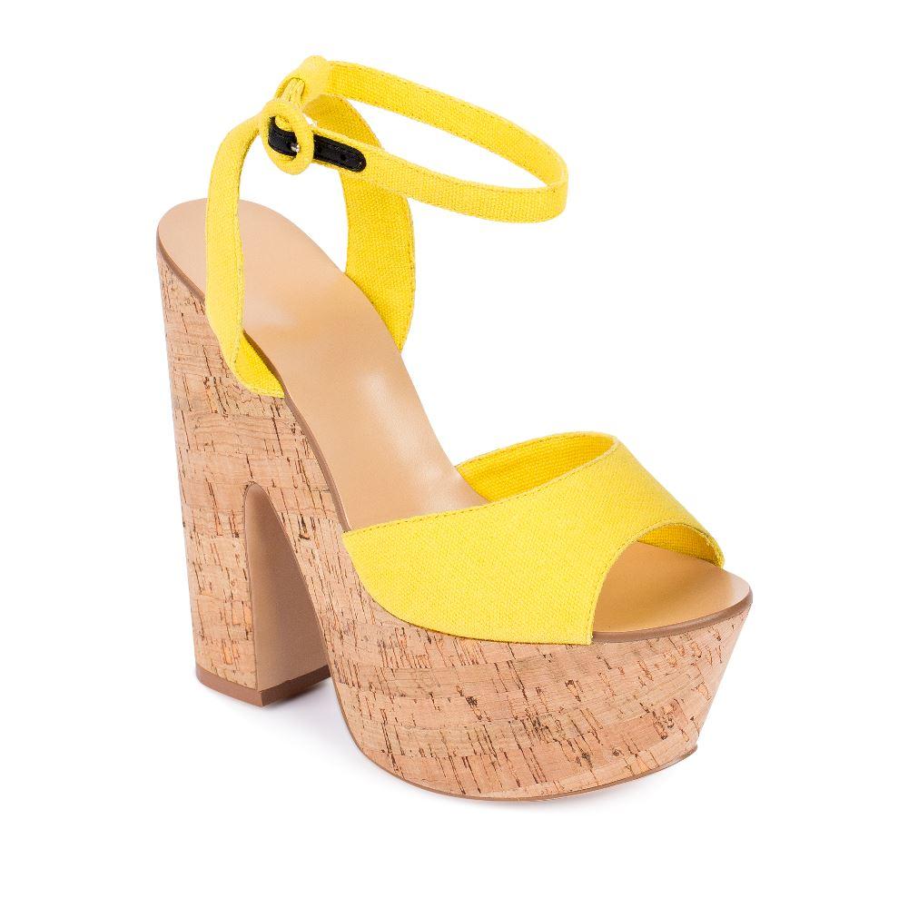 Женские босоножки CorsoComo (Корсо Комо) 52-H20-X512-4 т.п. Туфли жен текстиль желт.: изображение 2
