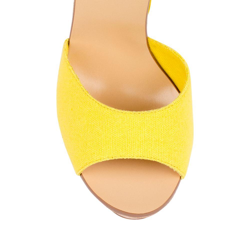 Женские босоножки CorsoComo (Корсо Комо) 52-H20-X512-4 т.п. Туфли жен текстиль желт.: изображение 3
