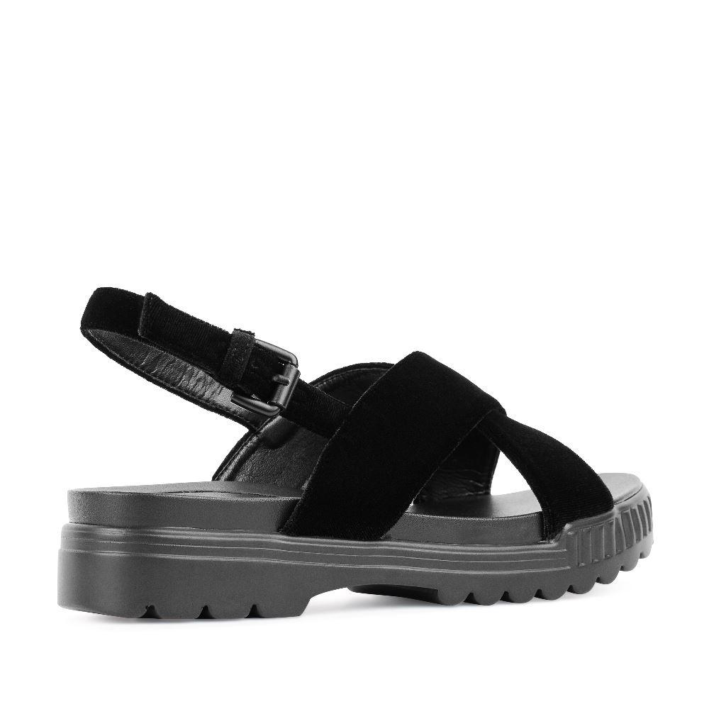Женские сандалии CorsoComo (Корсо Комо) 52-H25-A452-10 без п. Сандалеты жен текстиль черн.