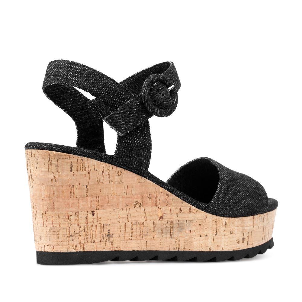 Женские босоножки CorsoComo (Корсо Комо) 52-H35-S332-1 т.п. Туфли жен текстиль черн.