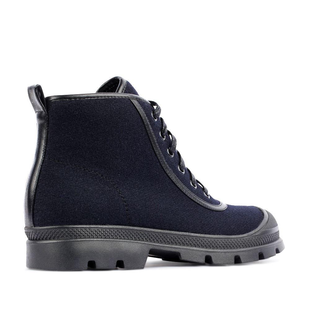 Женские ботинки CorsoComo (Корсо Комо) Ботинки из шерсти синего цвета