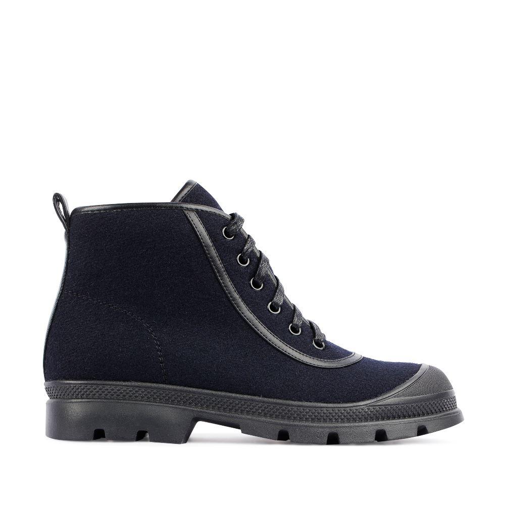 Ботинки из шерсти синего цвета