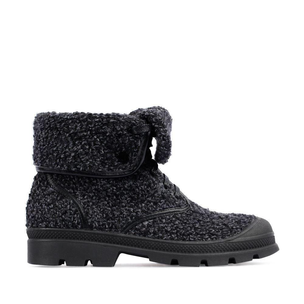 Ботинки из шерсти серого цвета с отворотом