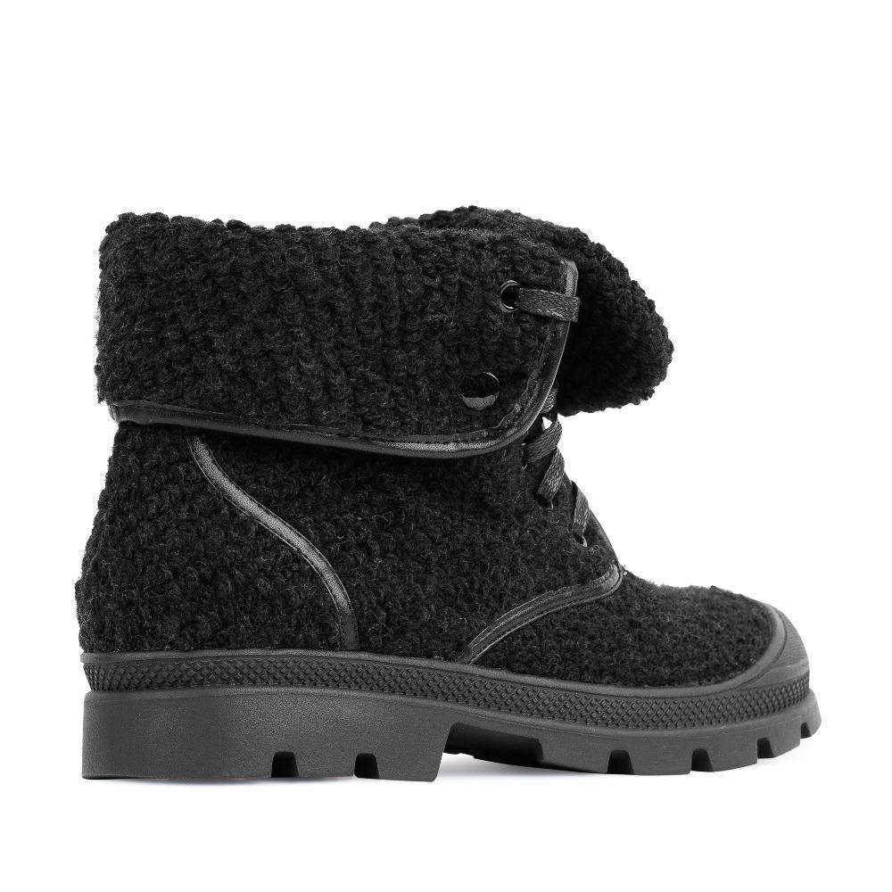 Женские ботинки CorsoComo (Корсо Комо) Ботинки из шерсти черного цвета с отворотом