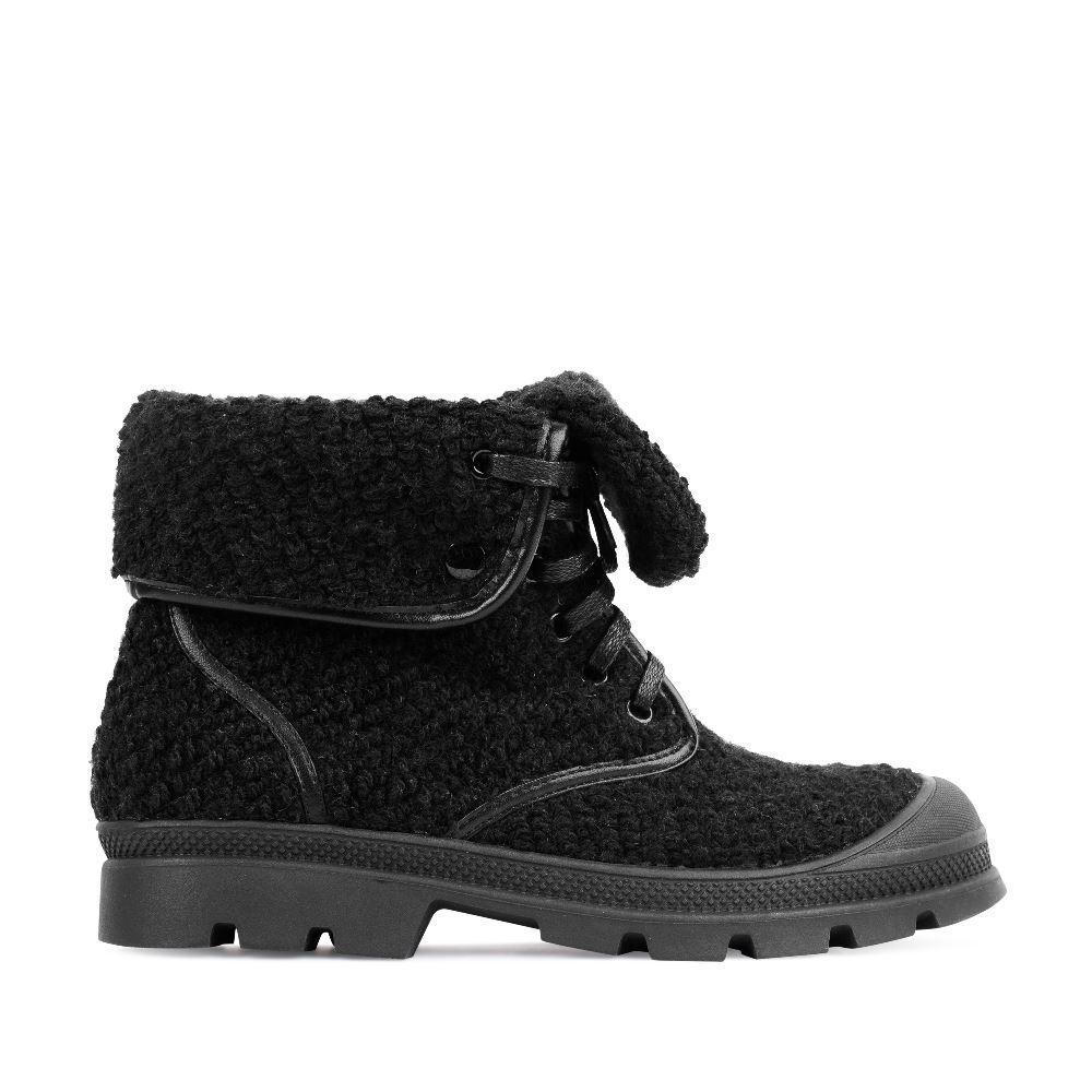 Ботинки из шерсти черного цвета с отворотом