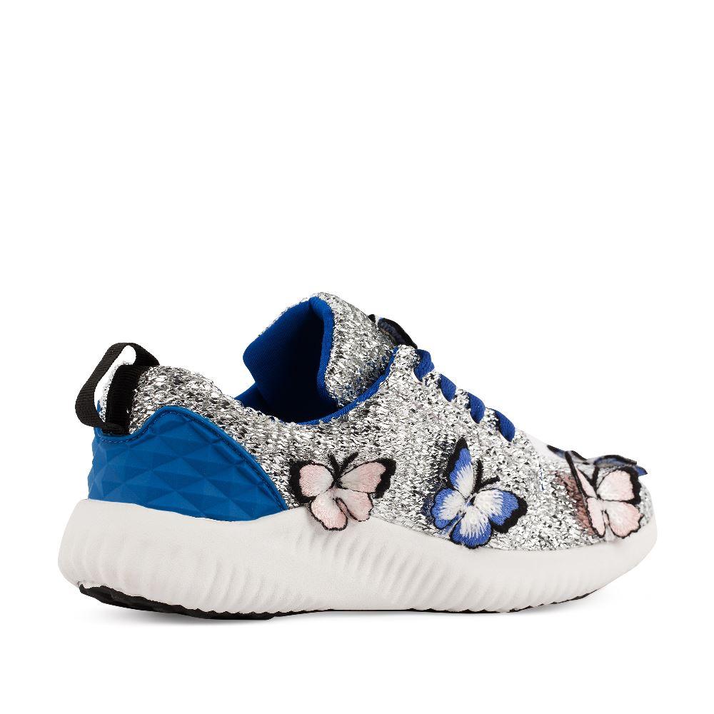 Женские кроссовки CorsoComo (Корсо Комо) Кроссовки серебряного цвета с аппликацией