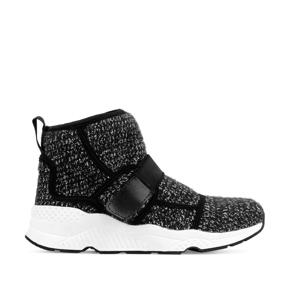 Высокие кроссовки из шерсти серого цвета
