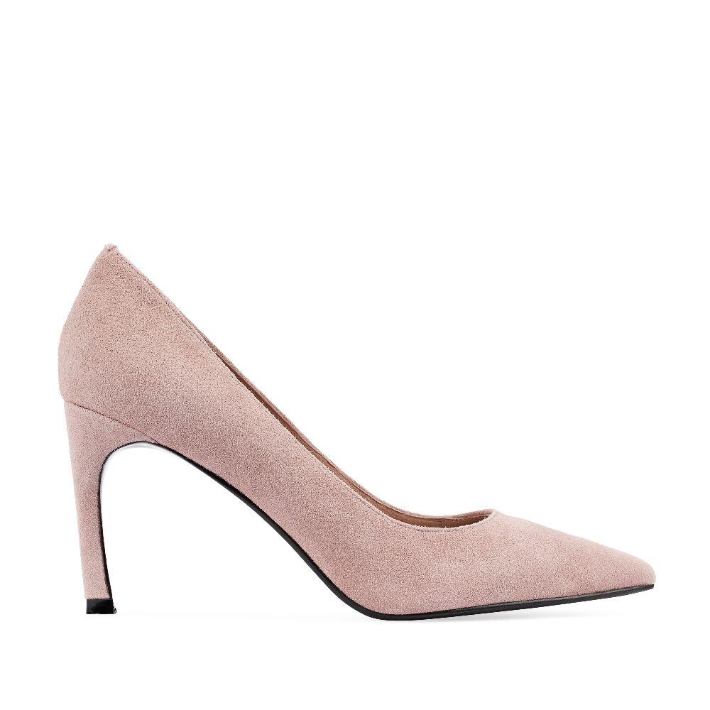 Туфли-лодочки из замши пепельно-розового цвета