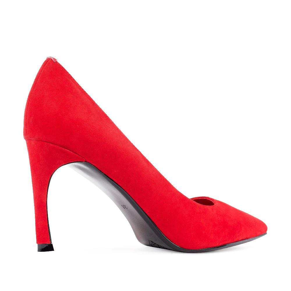 Женские туфли CorsoComo (Корсо Комо) 60-25-607-7-3 к.п. Туфли жен велюр красн.
