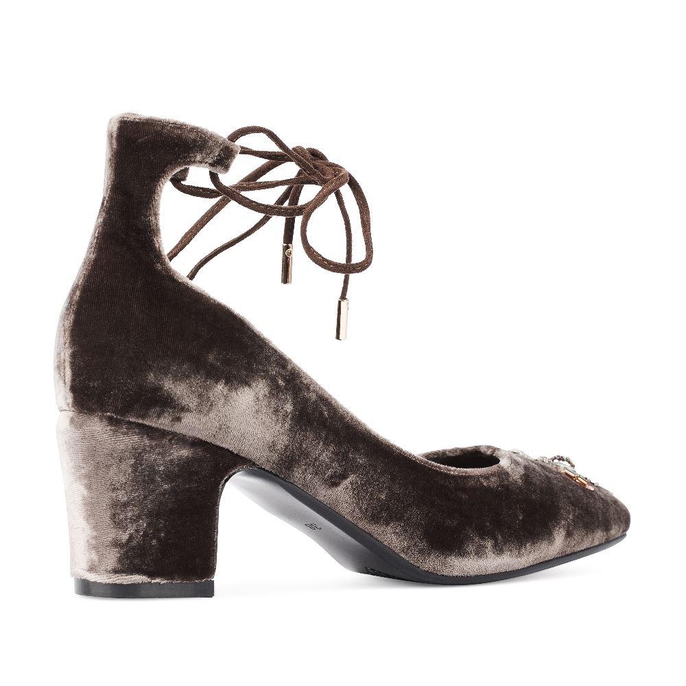 Женские туфли CorsoComo (Корсо Комо) 60-25-666-2-2 к.п. Туфли жен текстиль сер.