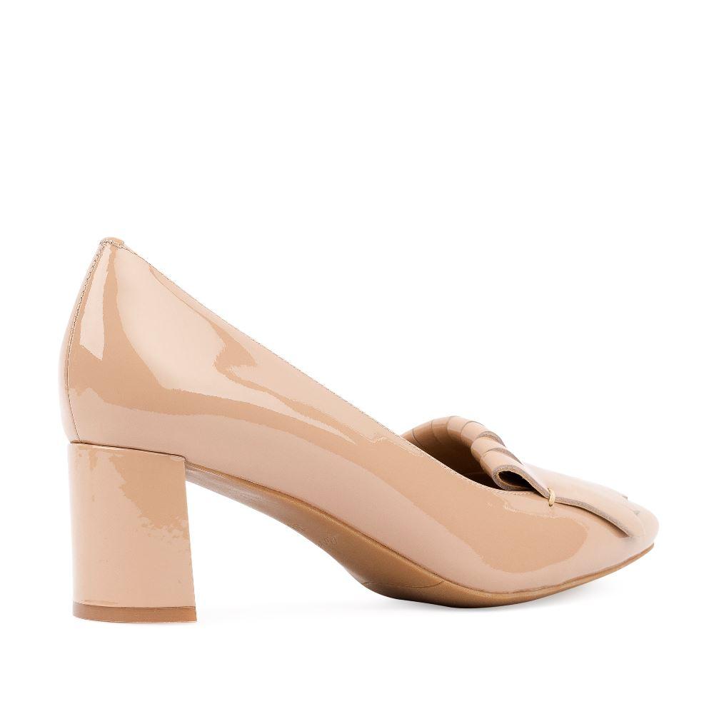 Женские туфли CorsoComo (Корсо Комо) Туфли кремового цвета из лакированной кожи