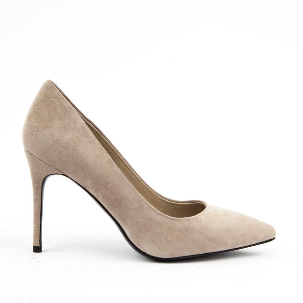 Туфли на каблуке CorsoComo (Корсо Комо) 60-58-1218-6-3 к.п. Туфли жен велюр сер.