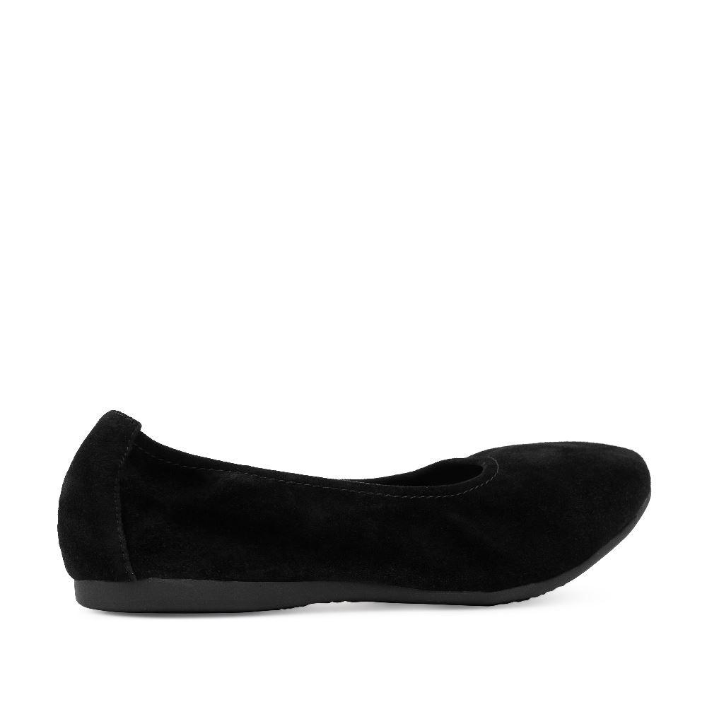 Женские балетки CorsoComo (Корсо Комо) 60-6-828-1-1 без п. Туфли жен велюр черн.