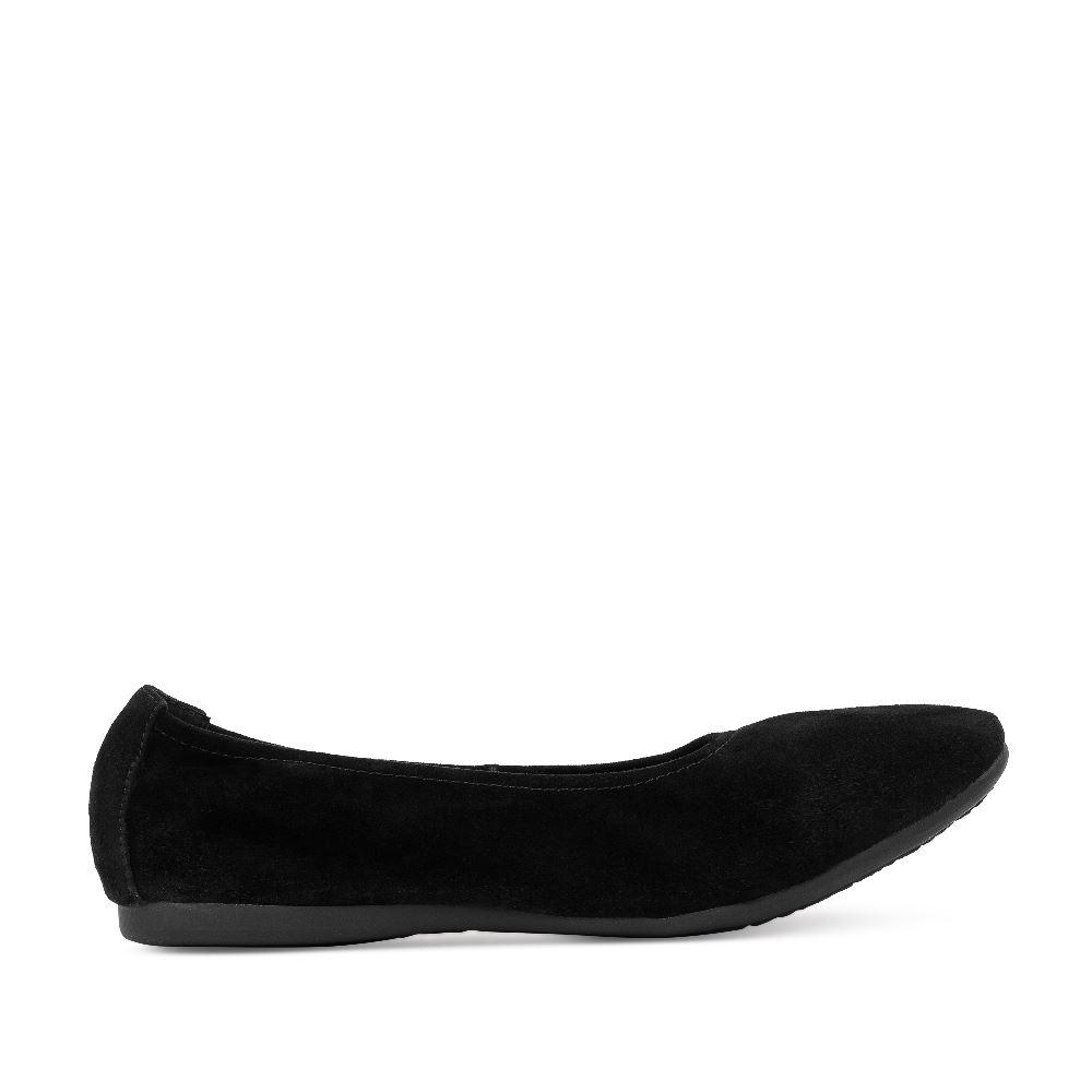 CORSOCOMO Замшевые балетки черного цвета 60-6-828-1-1
