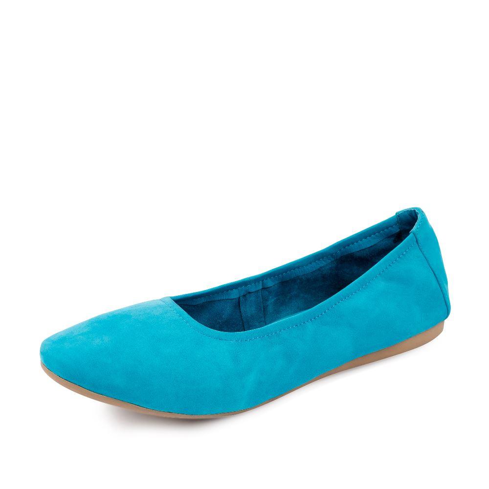 Женские балетки CorsoComo (Корсо Комо) Замшевые балетки голубого цвета
