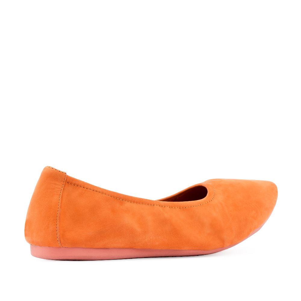 Женские балетки CorsoComo (Корсо Комо) 60-6-828-1-6 без п. Туфли жен велюр оранж.