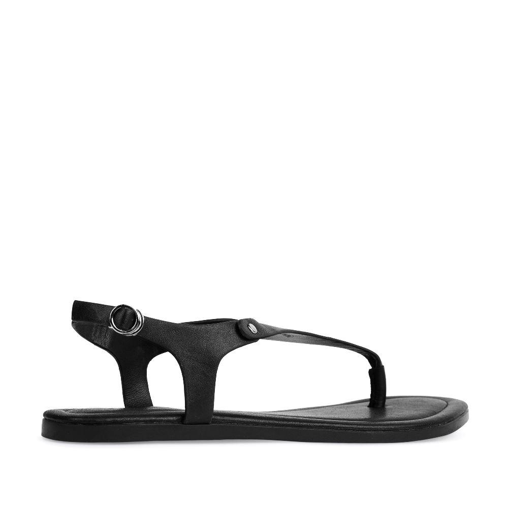 Женские сандалии CorsoComo (Корсо Комо) Кожаные сандалии черного цвета