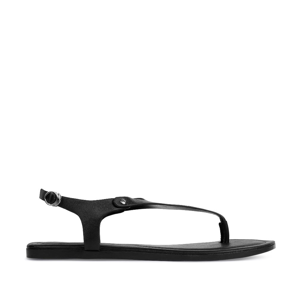 Кожаные сандалии черного цвета