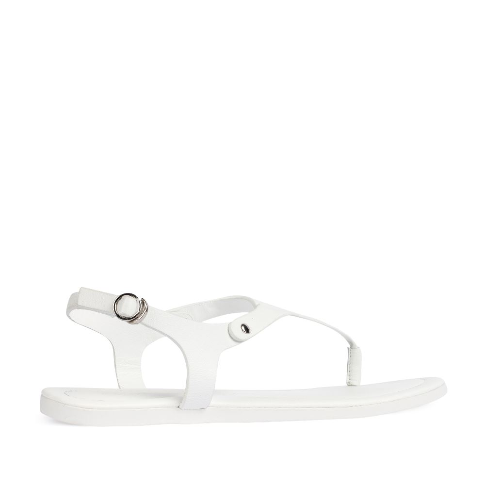 Женские сандалии CorsoComo (Корсо Комо) Сандалии из кожи белого цвета