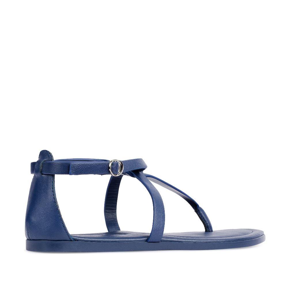Женские сандалии CorsoComo (Корсо Комо) Сандалии из кожи темно-синего цвета