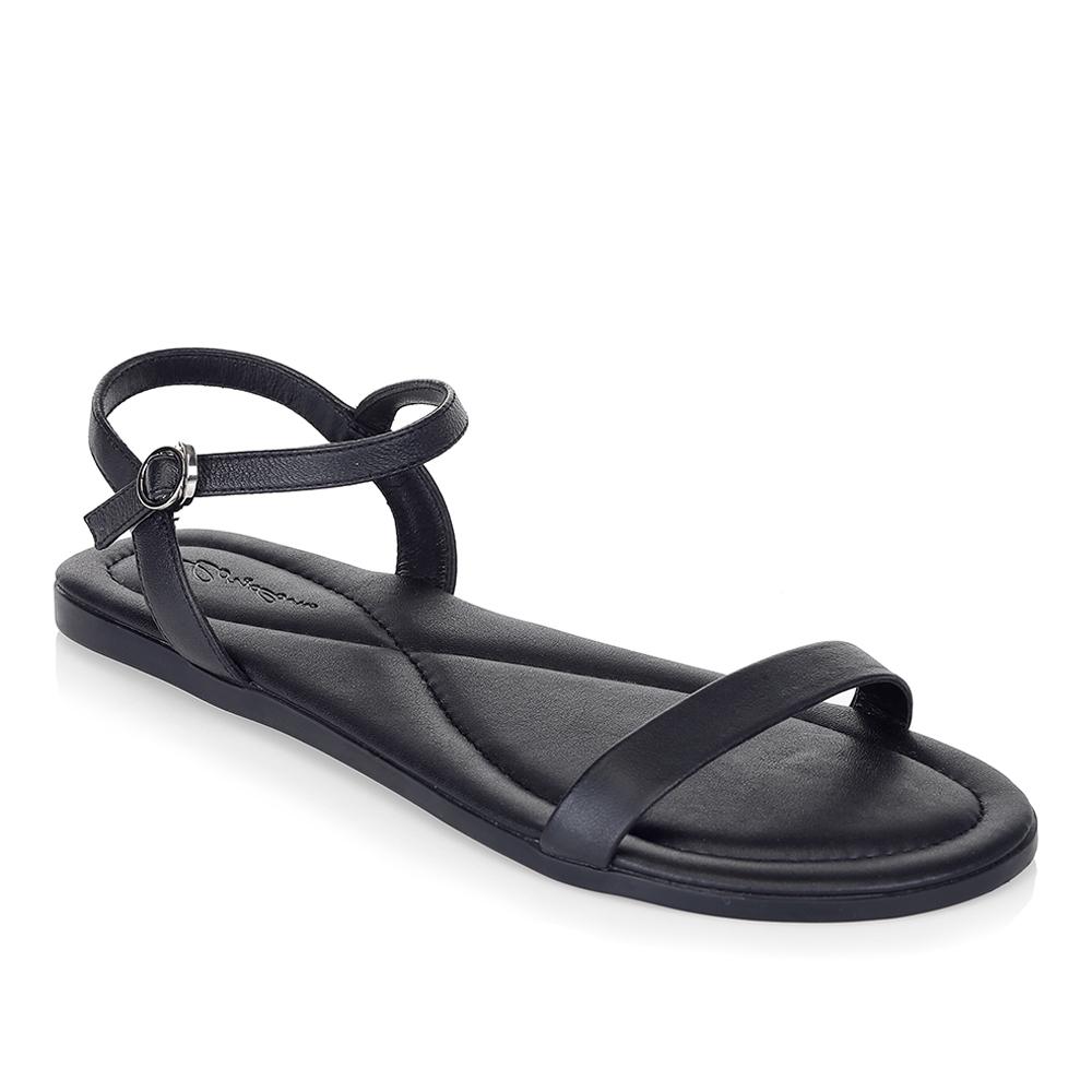 Женские сандалии CorsoComo (Корсо Комо) Сандалии из кожи черного цвета с ремешком