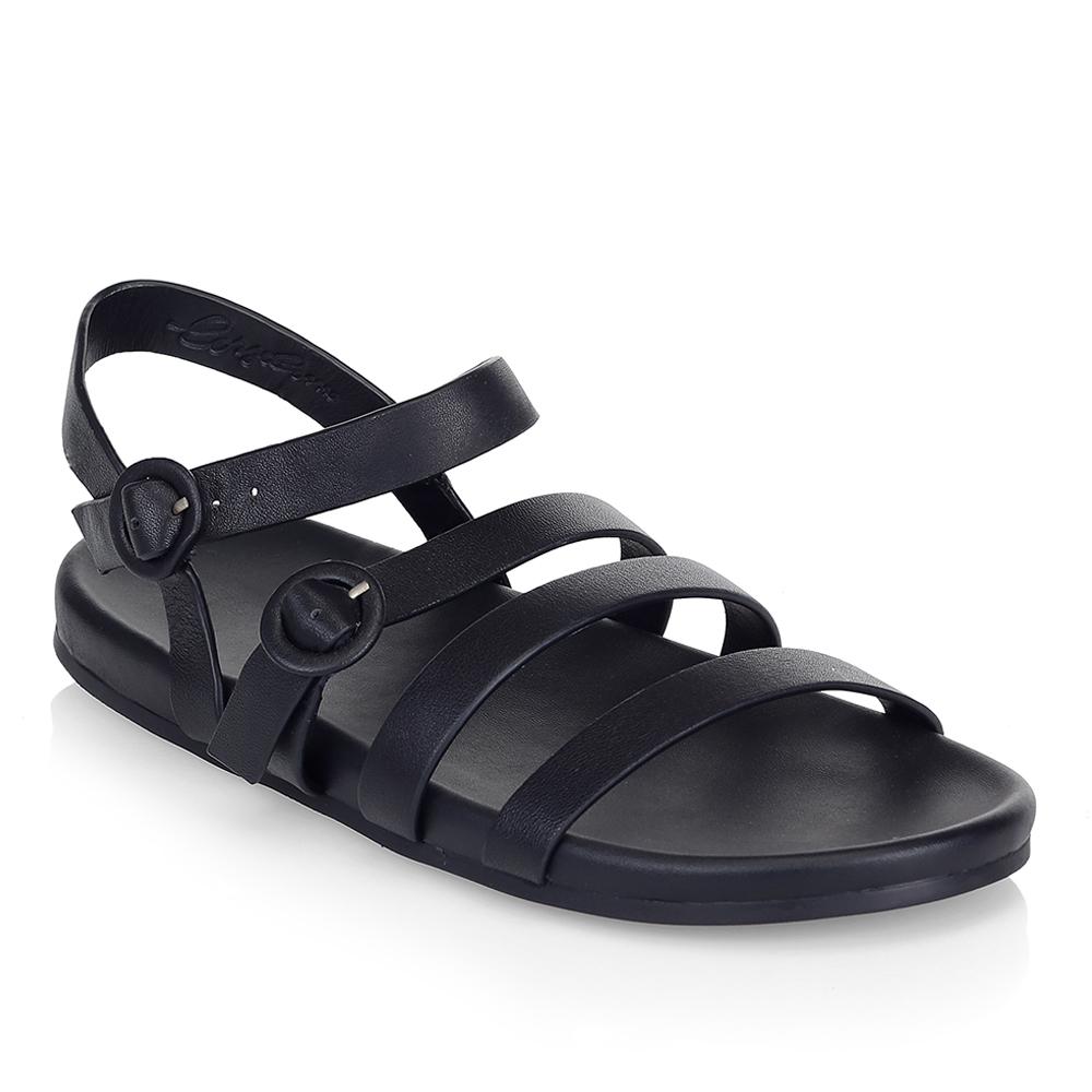 Женские сандалии CorsoComo (Корсо Комо) Сандалии из кожи черного цвета с ремешками
