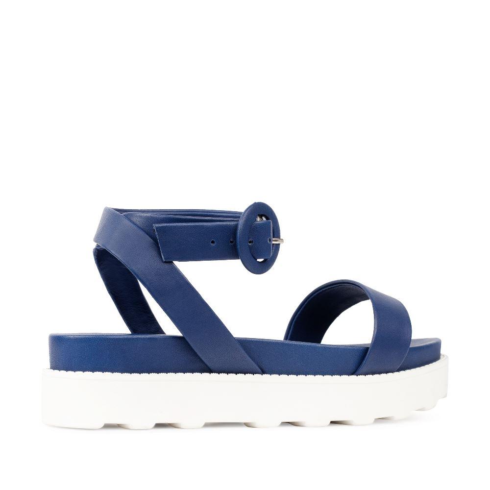 Женские сандалии CorsoComo (Корсо Комо) Сандалии из кожи синего цвета с ремешком на щиколотке