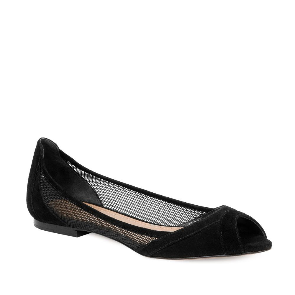 Женские балетки CorsoComo (Корсо Комо) 66-823-11-15 к.п. Туфли жен велюр черн.