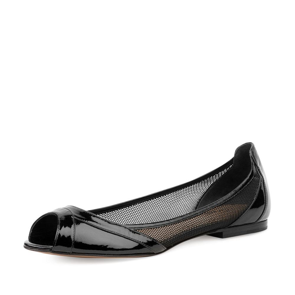 Женские балетки CorsoComo (Корсо Комо) 66-823-11-35 к.п. Сандалеты жен кожа черн.