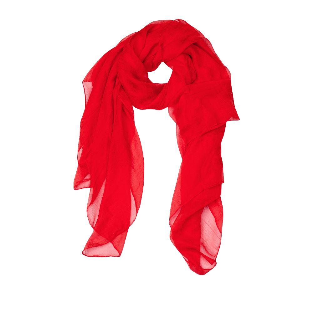 Шарф CorsoComo (Корсо Комо) Шарф красного цвета из шелка