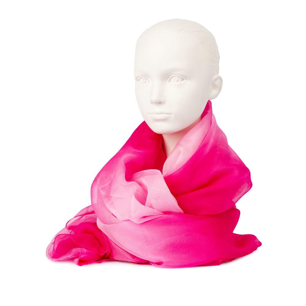 Шарф розового цвета с эффектом деграде