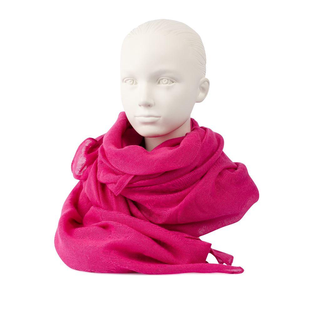 Шарф розового цвета из хлопка