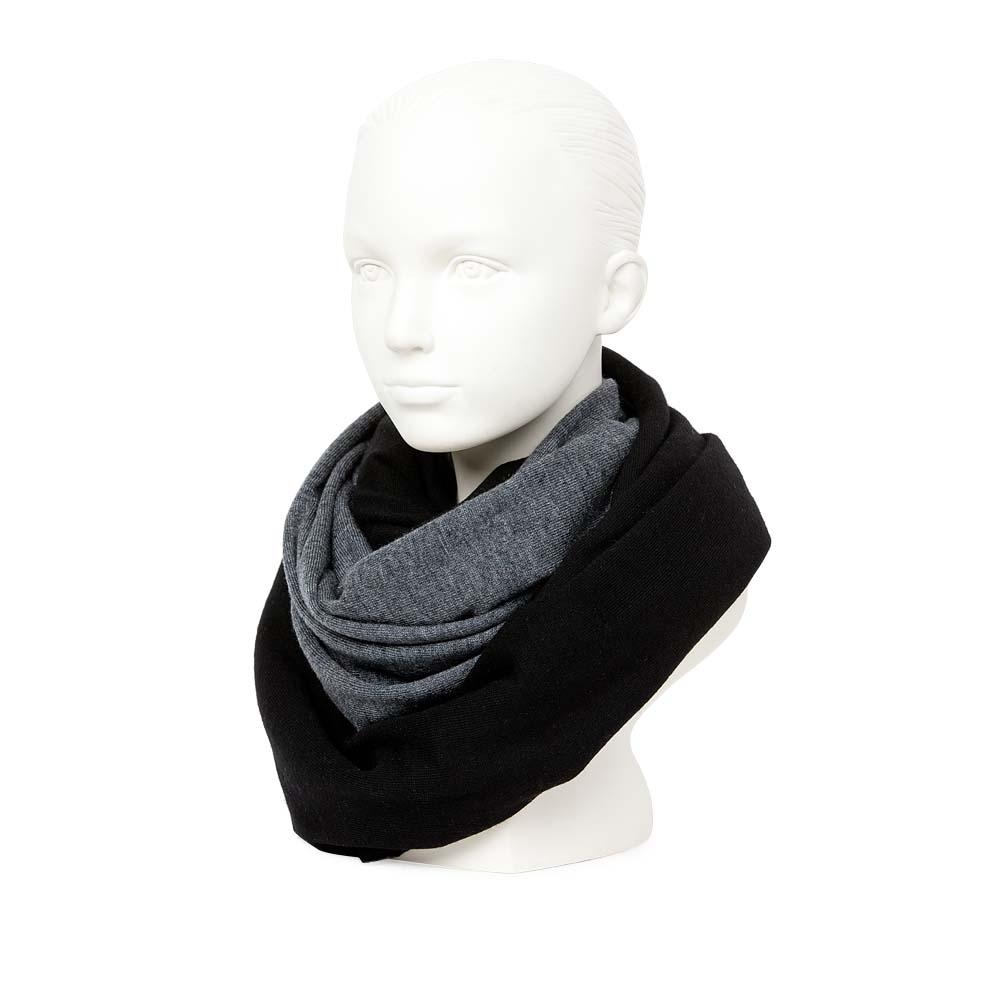 CORSOCOMO Двусторонний шарф черного и серого цвета 77-015-1